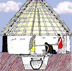 A queste primitive abitazioni gli etruschi sostituirono - Fasi di costruzione di una casa ...