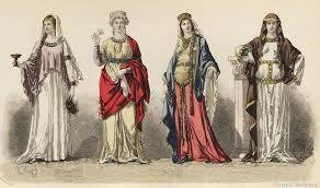 Le calze erano simili a quelle degli uomini ma sempre sorrette da  giarrettiere a7a6128614a