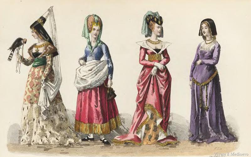 Acconciature femminili nel medioevo