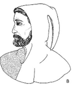 Una Foggia Di Colletto Rigido.Rinascimento Abbigliamento Maschile 1400