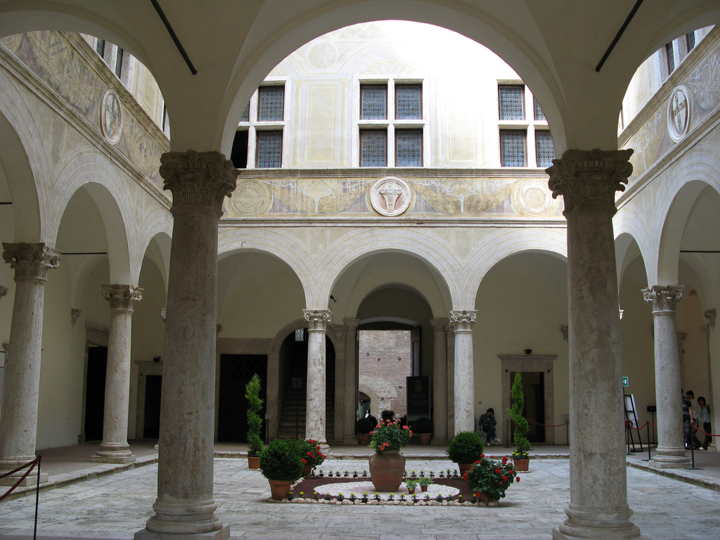 Medaglioni sculture quadri arazzi pavimenti in marmi for Ville architetti famosi